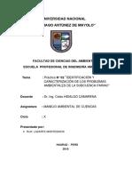 Problemas ambientales Microcuenca Pariac, Huaraz 2018
