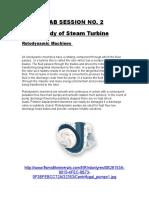 Basics of Steam Turbine