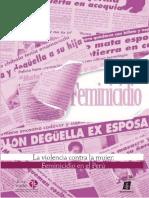 El Feminicidio en El Perú ( Ensayo)