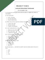 Pre Assessment 1