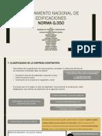 Norma g 0.50 Rne Seguridad en Construccion