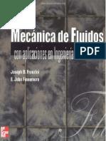 Mecánica de Fluidos Con Aplicaciones en Ingeniería - Joseph B. Franzini & E. John Finnemore - 9na Edición