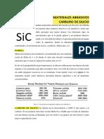 Abrasivo CARBURO DE SILICIO