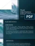 Presentation 1 Introduction to Fluid Mechanics