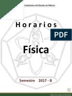 Horarios Grupos Fisica 2017B
