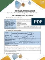 1- Guía de Actividades y Rúbrica de Evaluación - Fase 2 - Análisis y Discusión Del Problema