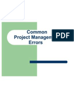 Common Project Errors