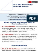 01. Procedimiento de Baja de Materiales Educativos a NIVEL de UGEL