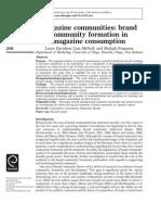 Magazine Communities- Brand Community Formation in Magazine Consumption