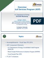 101 ASP 2016 Workshop Overview Final