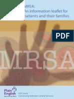 Mrsa Info Leaflet Patient