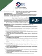 Vacancy Announcement Training Assistant - PDF FINAL