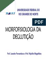 Aula 01 Morfofisiologia Da Degluticao PDF