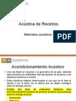 Materiales acusticos - Salas