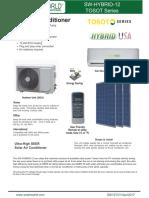 12000 BTU Solar Hybrid Air Conditioner