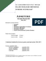 Brosura Admitere Doctorat Site 2016 Informatii Partiale