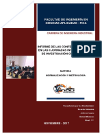 Informe de Las Conferencias