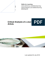 Critical Analysis Journal Article