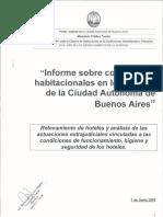 Informe Sobre Condiciones Habitacionales en Los Hoteles de la Ciudad