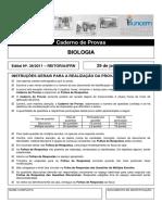 Prova IFRN P06 - Biologia