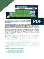 Bursa Taruhan Swedia vs Inggris 7 Juli 2018