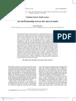 Interrelationship Between Diet and Oral Health