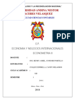 Caratula de Econometria II
