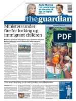 The Guardian International Edition (broadsheet newspaper) August 31 2009 (ATTiCA)