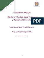5Biogeografía y Ecología de Islas