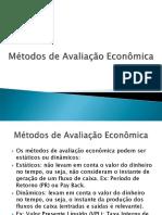 Métodos de Avaliação Econômica_3º Etapa