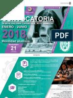 Convocatoria del Instituto Politécnico Nacional versión 2018