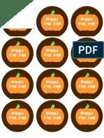 Fall Pumpkin Round Sticker