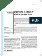 Contribution of Transverse Bulkheads FEM