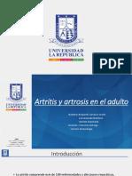 Artritis y Artrosis en El Adulto