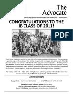 SPHS IB Advocate - Summer 2011