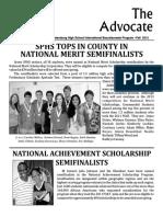 SPHS IB Advocate - Fall 2012