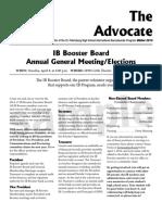 SPHS IB Advocate - Winter 2013-14