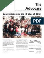 SPHS IB Advocate - Summer 2013