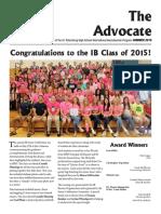 SPHS IB Advocate - Summer 2015