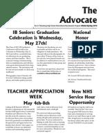 SPHS IB Advocate - Spring 2015