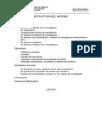 Estructura Del Informe Del Trabajo de Investigación