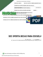 09-06-18 - Diario Noticias - SEC Oferta Becas Para Escuelas Particulares