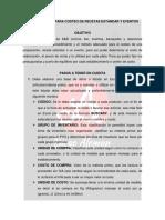 Procedimiento Para Costeo de Recetas Estandar y Eventos-1