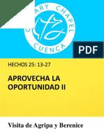 Aprovecha La Oportunidad II. Proyectarpptx