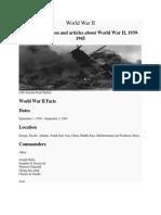 World War II Summary