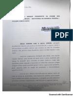 Petição do candidato de oposição à atual gestão da OAB-DF, Délio Lins e Silva