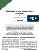 Choosing the Level of Detail for Hazard Identification