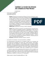 Mimesis como imitacion creadora - Ricoeur.pdf