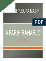 Efusi Pleura Masive Pneumotoraks