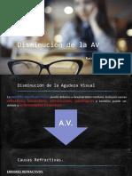 Disminución de La AV (ambliopía)